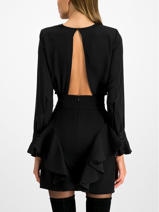 Elisabetta Franchi Elisabetta Franchi Комплект блуза и пола AB-909-96E2-V399 Черен Slim Fit