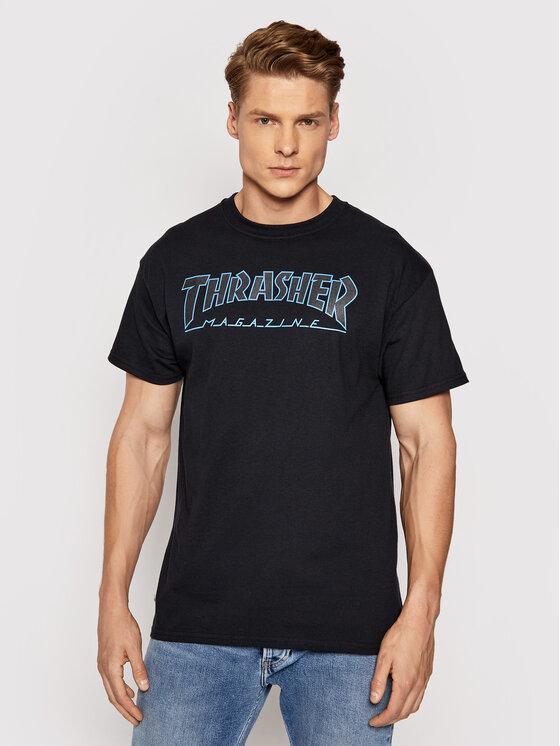 Thrasher Marškinėliai Outlined Juoda Regular Fit
