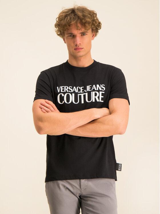 Versace Jeans Couture Versace Jeans Couture Tricou B3GVA7X1 Negru Regular Fit
