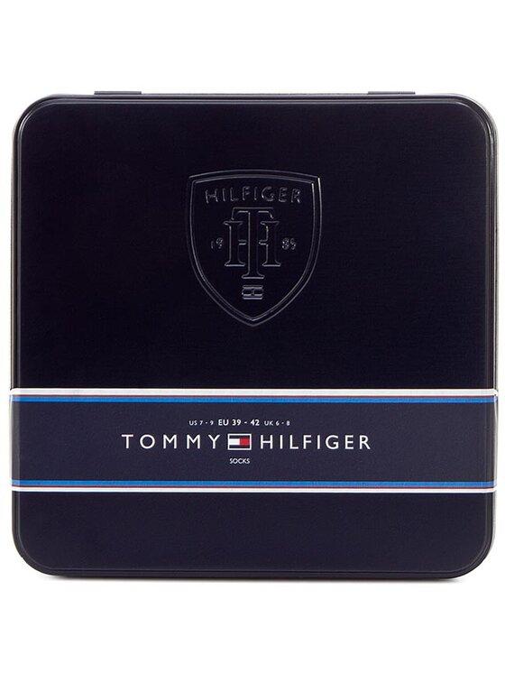 Tommy Hilfiger Tommy Hilfiger Súprava 4 párov vysokých pánskych ponožiek 452014001 Tmavomodrá