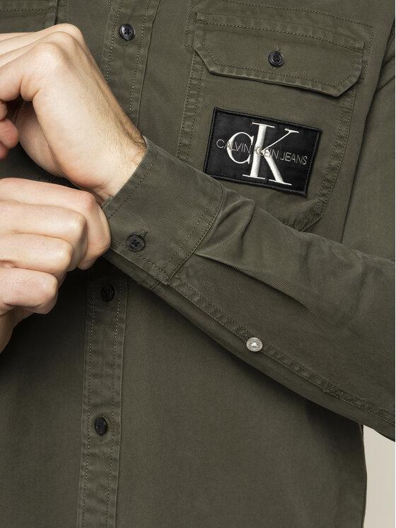 Calvin Klein Jeans Calvin Klein Jeans Camicia Twill J30J314407 Verde Regular Fit