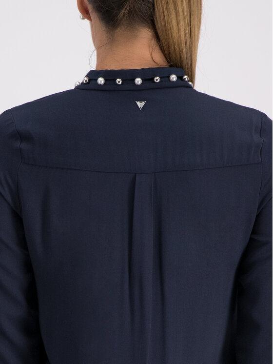 Guess Guess Риза W93H70 WAUK0 Тъмносин Regular Fit