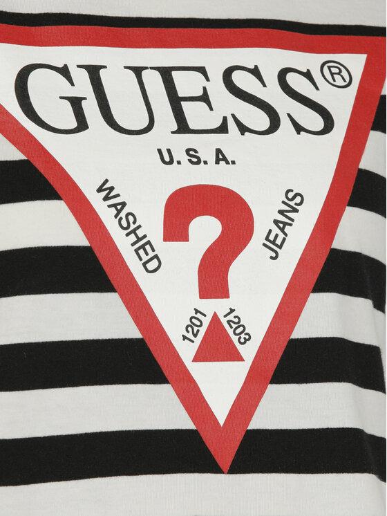Guess Guess T-Shirt Crop O84I11 I3Z07 Kolorowy Regular Fit