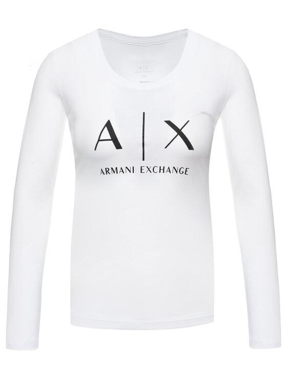 Armani Exchange Armani Exchange Bluzka 8NYTDG YJ16Z 1000 Biały Regular Fit