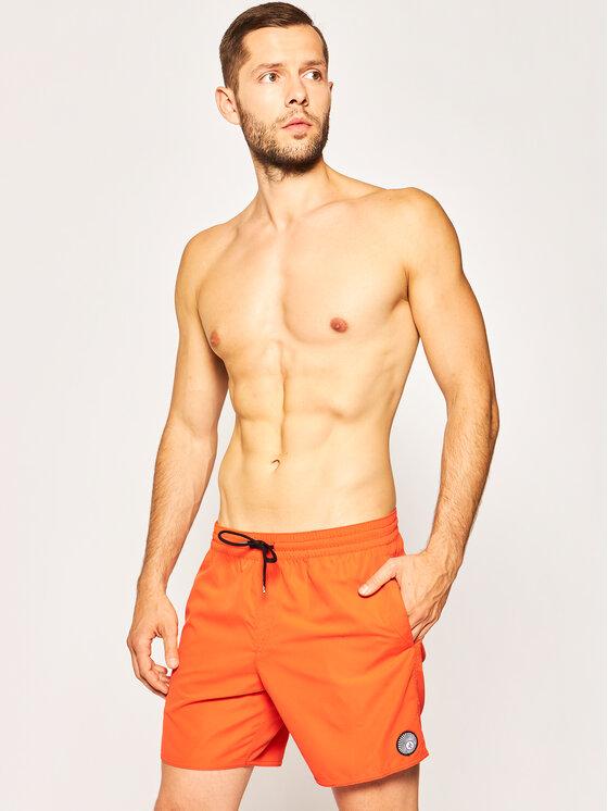 Volcom Plaukimo šortai Lido Solid A2512005 Oranžinė Regular Fit