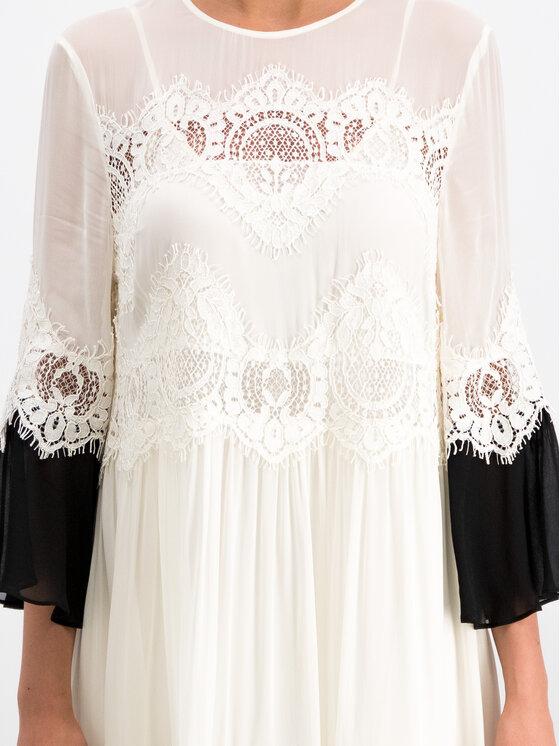 TWINSET TWINSET Φόρεμα κοκτέιλ 191TT2102 Λευκό Loose Fit