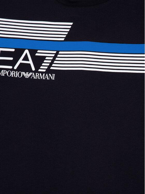 EA7 Emporio Armani EA7 Emporio Armani Тишърт 3HBT54 BJ7CZ 1554 Тъмносин Regular Fit