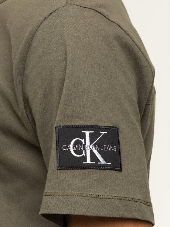 Calvin Klein Jeans Calvin Klein Jeans Tričko Monogram Logo J30J314051 Zelená Regular Fit
