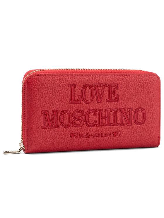 LOVE MOSCHINO LOVE MOSCHINO Duży Portfel Damski JC5645PP08KN0500 Czerwony