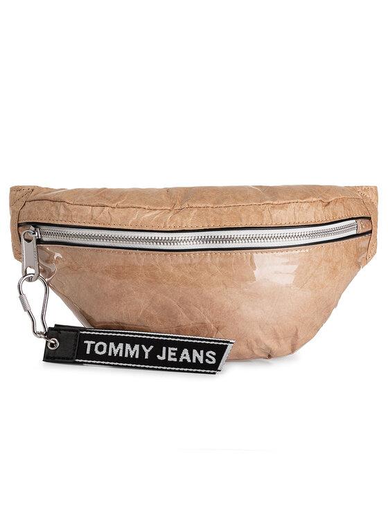 Tommy Jeans Tommy Jeans Borsetă Tjm Logo Tape Coated Bumbag AM0AM04977 Bej