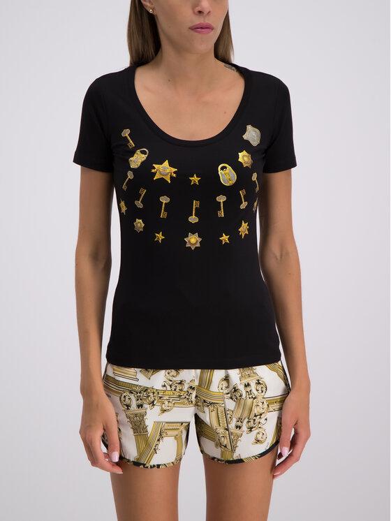 Versace Jeans Versace Jeans Тишърт B2HTB7P1 Черен Regular Fit