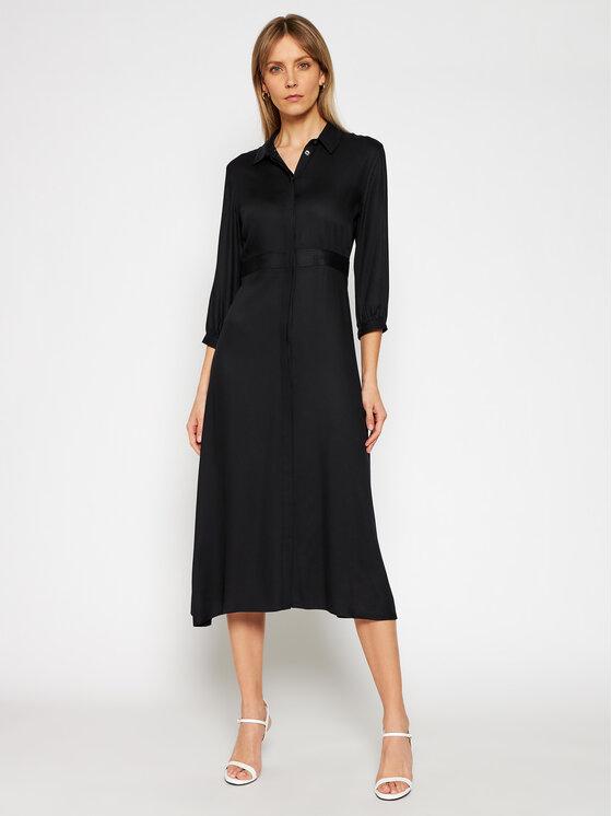 Calvin Klein Sukienka koszulowa K20K202568 Czarny Regular Fit