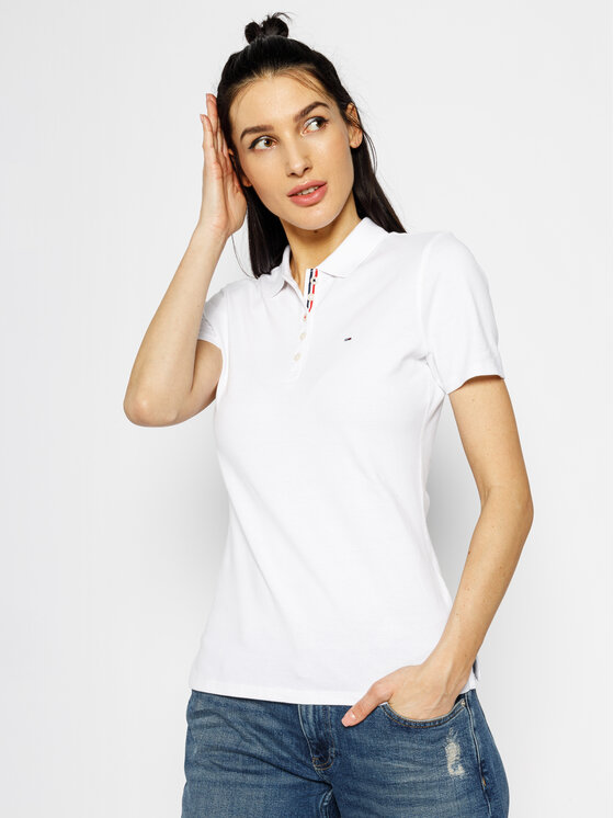Tommy Jeans Tommy Jeans Polohemd Original DW0DW04434 Weiß Regular Fit