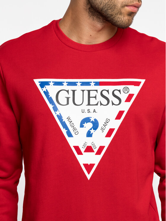 Guess Guess Bluză M93Q39 K8S70 Roșu Regular Fit