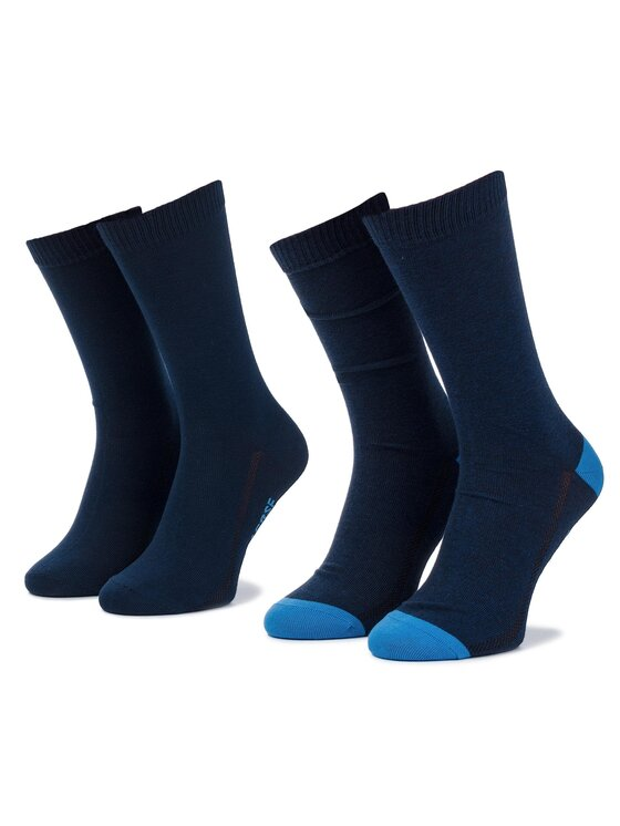 Levi's® Levi's® Súprava 2 párov vysokých pánskych ponožiek 963016001 39-42 Tmavomodrá