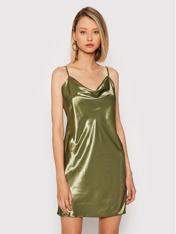 NA-KD NA-KD Sukienka koktajlowa 1017-001020-0031-581 Zielony Regular Fit