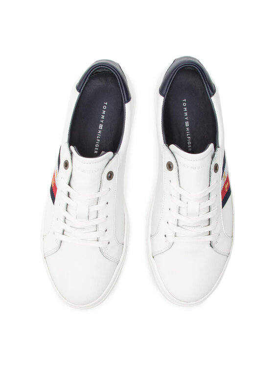 TOMMY HILFIGER TOMMY HILFIGER Сникърси Corporate Leather Detail Sneaker FM0FM02244 Бял