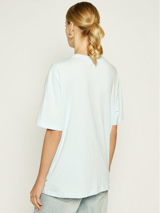 Converse Converse T-Shirt Heart Reverse Print Tee 10018940-A06 Μπλε Oversize