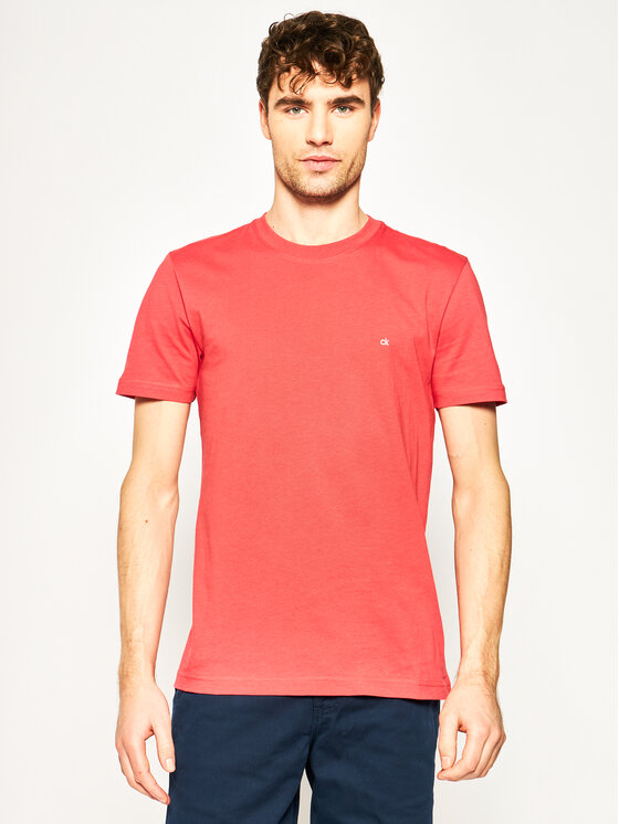Calvin Klein Calvin Klein T-shirt Logo Embroidery K10K103076 Rouge Regular Fit