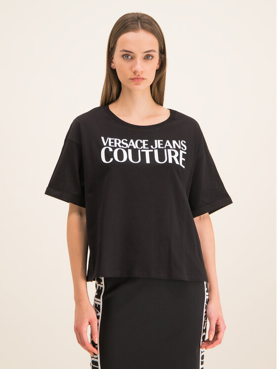 Versace Jeans Couture Versace Jeans Couture T-Shirt B2HUA7HT Czarny Oversize