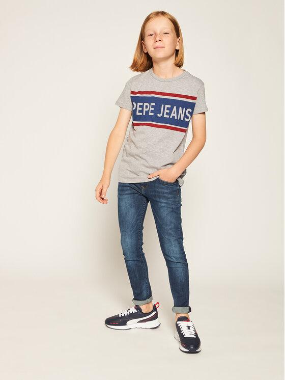 Pepe Jeans Pepe Jeans Tričko Talton PB502689 Sivá Regular Fit