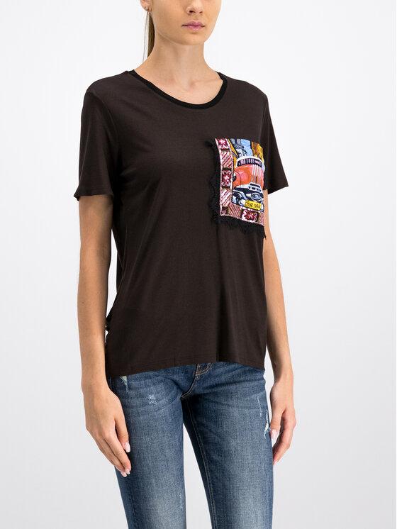 Desigual Desigual T-shirt 19WWTKCR Noir Slim Fit