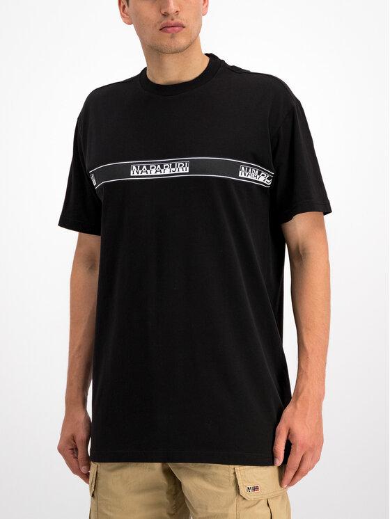 Napapijri Napapijri T-Shirt Sagar N0YHUD Μαύρο Loose Fit