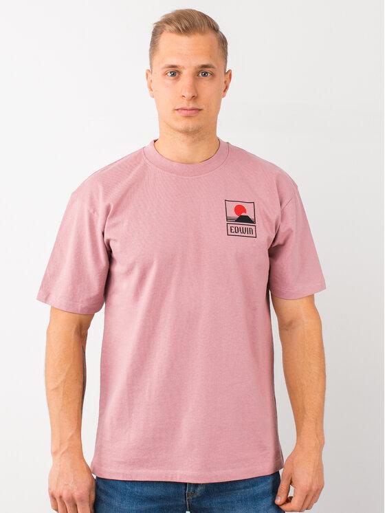 Edwin Edwin T-Shirt Sunset On Mt Fuji Ts I025881 TG372M4 WDR67 Ροζ Regular Fit