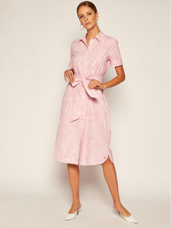 Tommy Hilfiger Sukienka koszulowa Reisa WW0WW28190 Różowy Regular Fit
