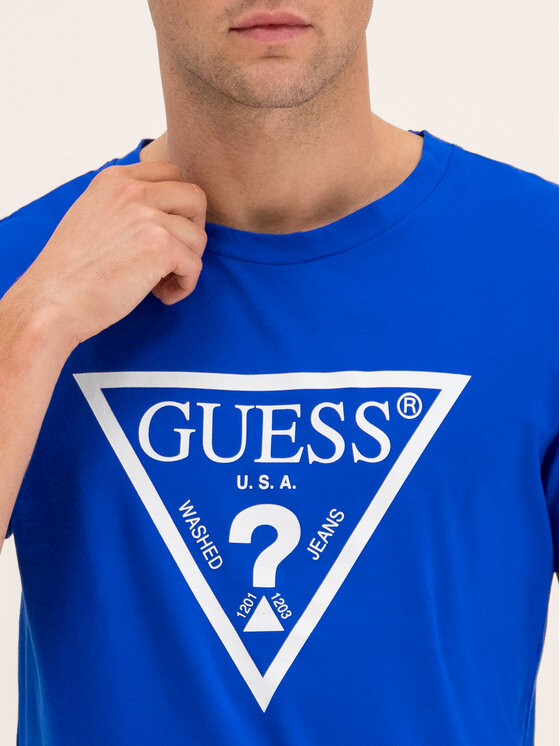 Guess Guess T-shirt U94M09 JR00A Blu scuro Regular Fit