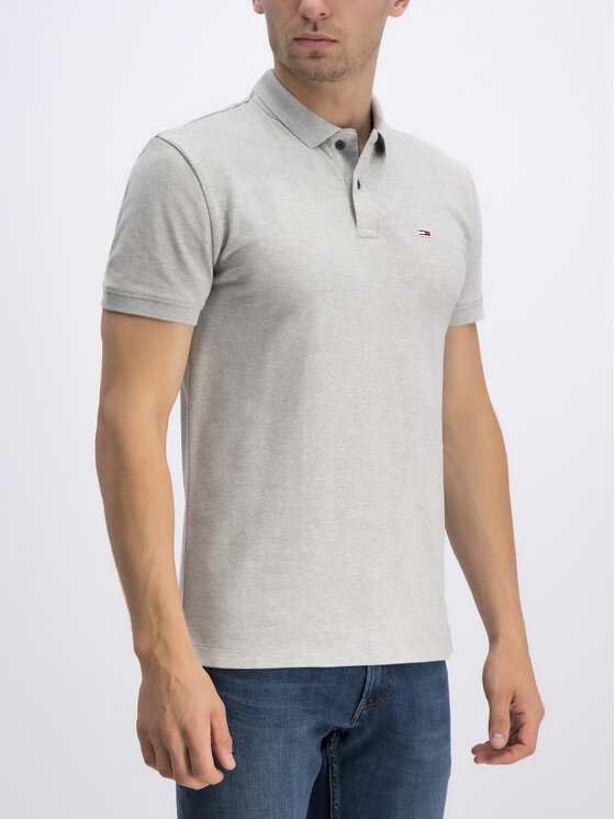 Tommy Jeans Tommy Jeans Тениска с яка и копчета DM0DM06112 Сив Regular Fit