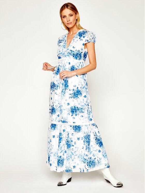 My Twin Sukienka codzienna 201MT2081 Granatowy Regular Fit