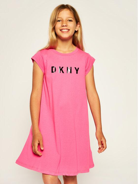DKNY DKNY Hétköznapi ruha D32752 S Rózsaszín Regular Fit