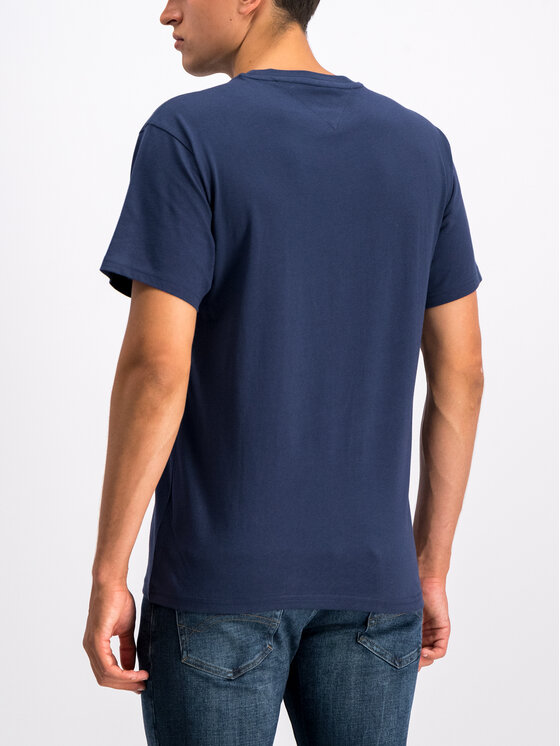 Tommy Jeans Tommy Jeans T-Shirt Round Logo DM0DM07013 Granatowy Regular Fit
