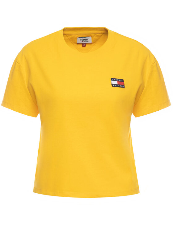 Tommy Jeans Tommy Jeans Тишърт Badge DW0DW06813 Жълт Regular Fit