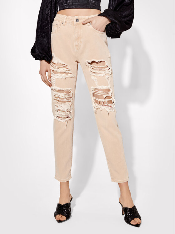 Rage Age Jeansy Vera 1 Beżowy Relaxed Fit