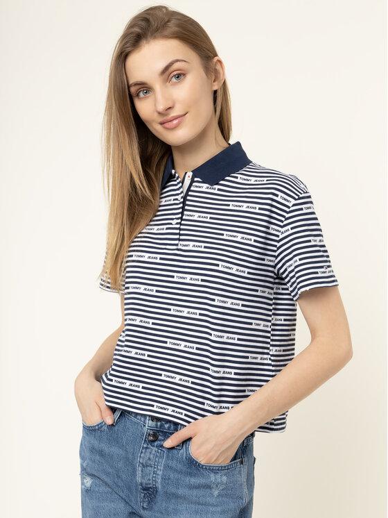 Tommy Jeans Tommy Jeans Polo Stripe DW0DW07643 Σκούρο μπλε Oversize