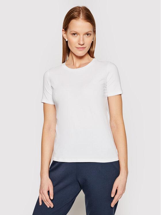 Max Mara Leisure Marškinėliai Vagare 39710116 Balta Regular Fit