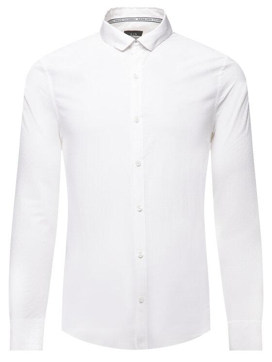 Armani Exchange Armani Exchange Marškiniai 3HZC14 ZNLVZ 1100 Balta Slim Fit