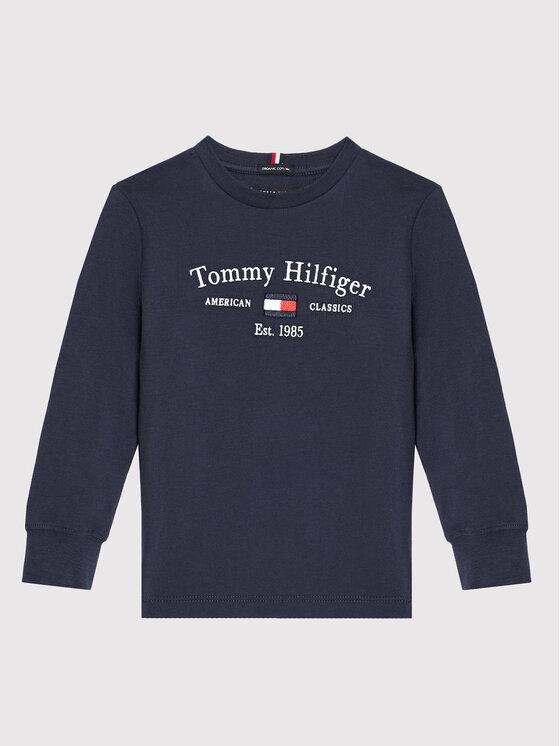 Tommy Hilfiger Tommy Hilfiger Bluzka Artwork KB0KB06318 M Granatowy Regular Fit
