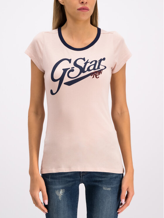 G-Star Raw G-Star Raw Tričko D14704-4107-7176 Ružová Slim Fit