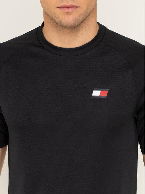 Tommy Sport Tommy Sport T-shirt Back Logo S20S200267 Noir Regular Fit