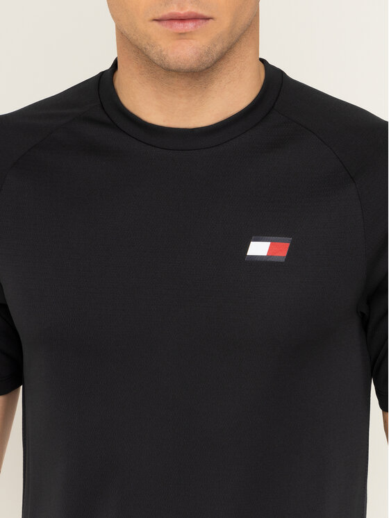 Tommy Sport Tommy Sport T-Shirt Back Logo S20S200267 Schwarz Regular Fit
