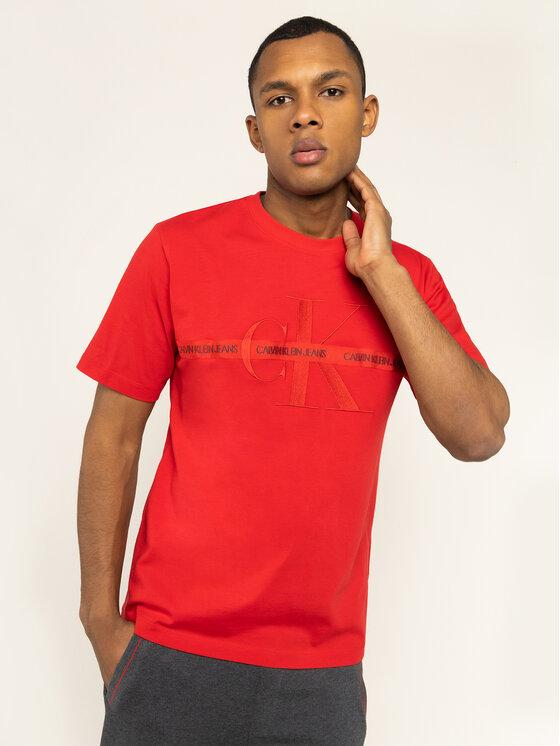 Calvin Klein Jeans Calvin Klein Jeans T-shirt Embroidered Logo J30J314094 Rosso Regular Fit