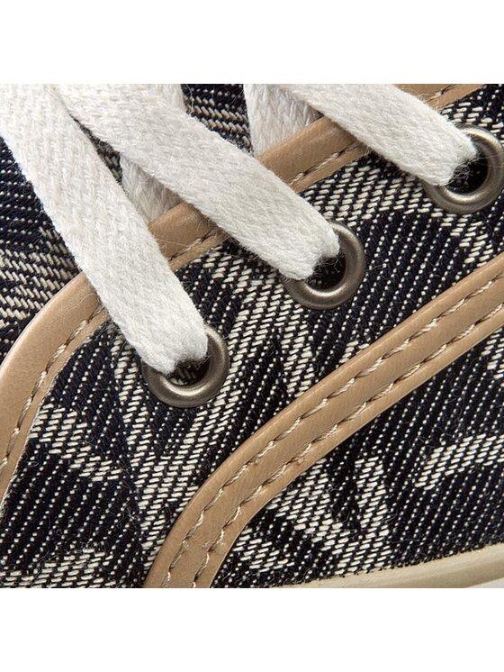 Calvin Klein Jeans Calvin Klein Jeans Sneakers aus Stoff Wylie Ck Logo Jacquard Denim/V RE9263 Dunkelblau