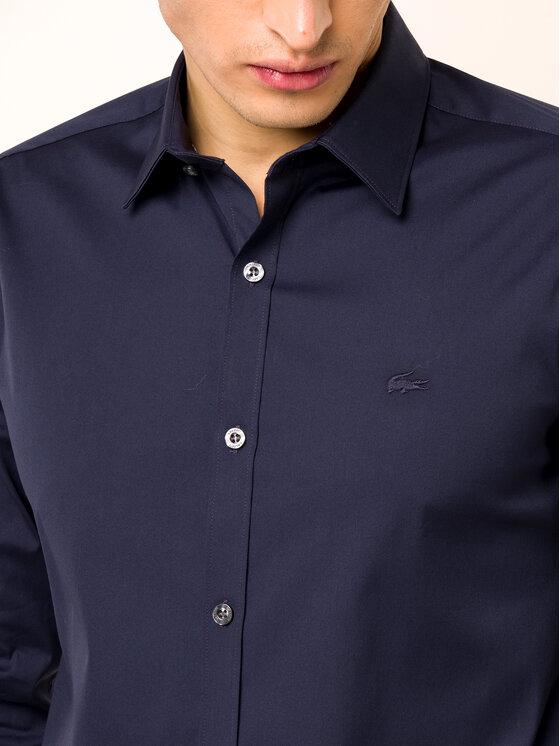 Lacoste Lacoste Koszula CH5366 Granatowy Slim Fit