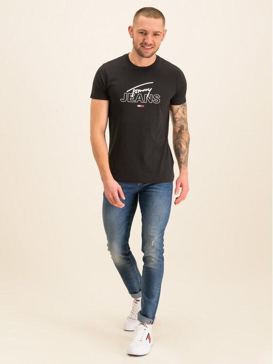 Tommy Jeans Tommy Jeans Tričko Script DM0DM07011 Čierna Regular Fit