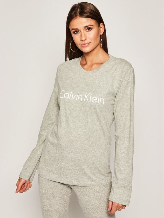 Calvin Klein Underwear Bluzka 000QS6164E Szary Relaxed Fit