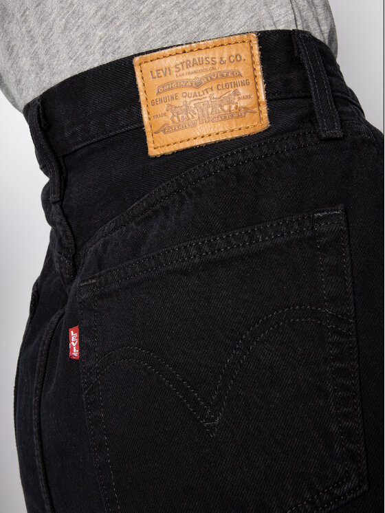 Levi's® Levi's® Fustă de blugi Deconstructed 77882-0008 Negru Slim Fit