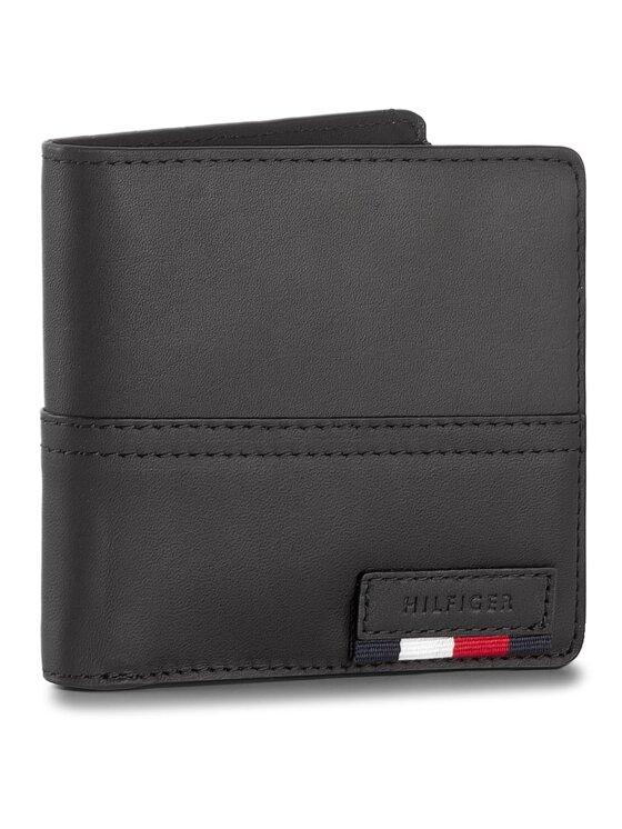 Tommy Hilfiger Tommy Hilfiger Duży Portfel Męski Branded Leather Cc & Back Coin Zip AM0AM02931 Czarny